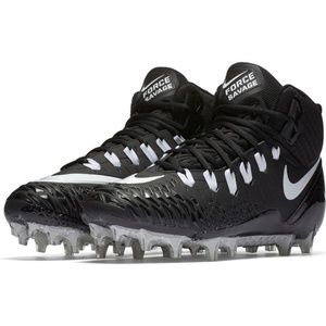 Nike Black Force Savage Pro Football Cleat Sz 14W